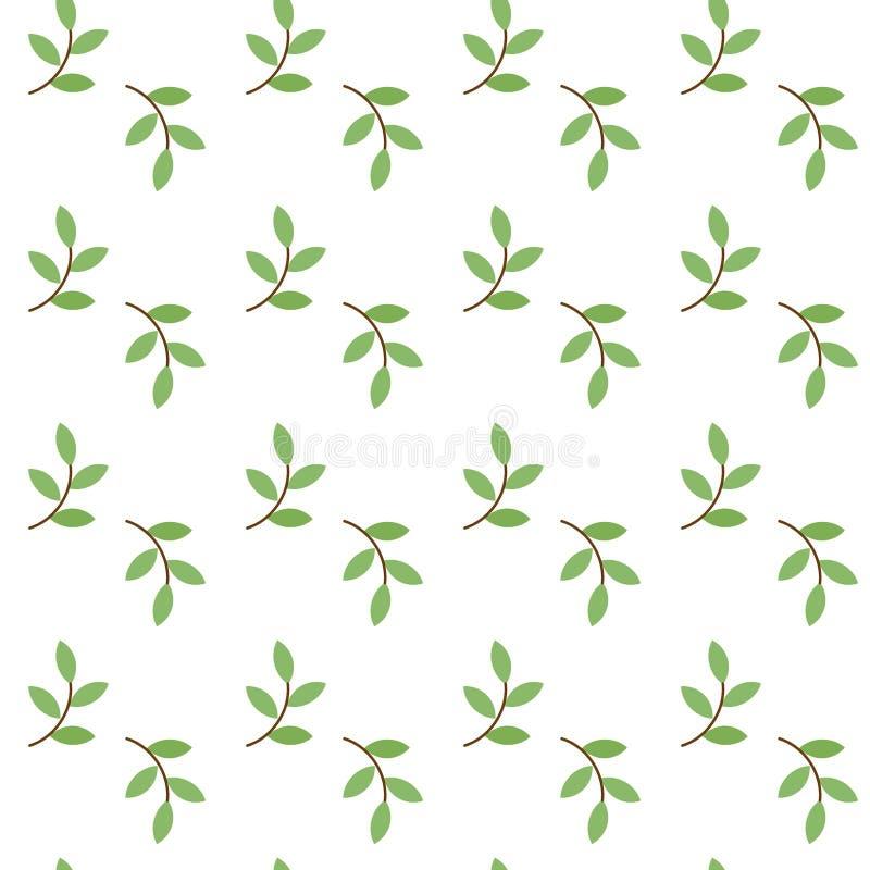 Modèle avec le brin vert illustration de vecteur