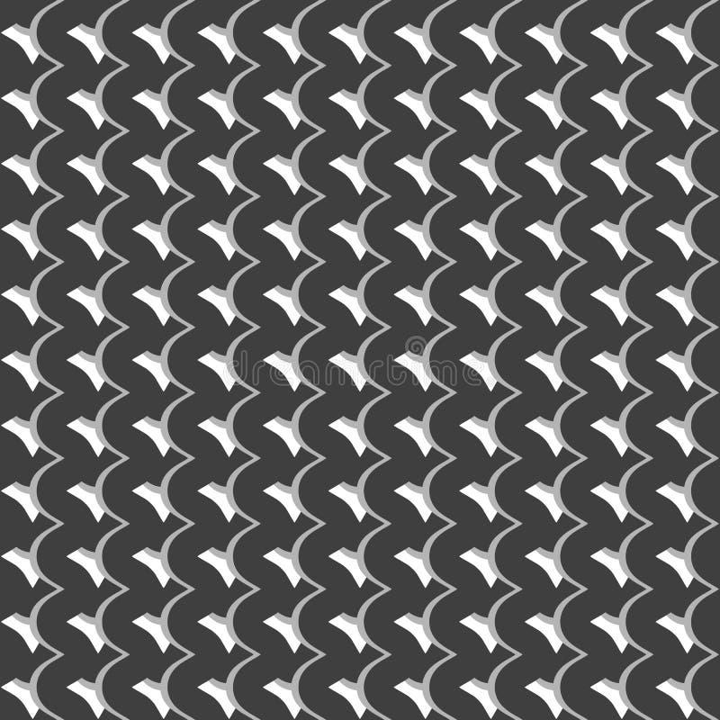 Modèle avec les lignes de intersection onduleuses et houleuses Grille d'irregular illustration libre de droits