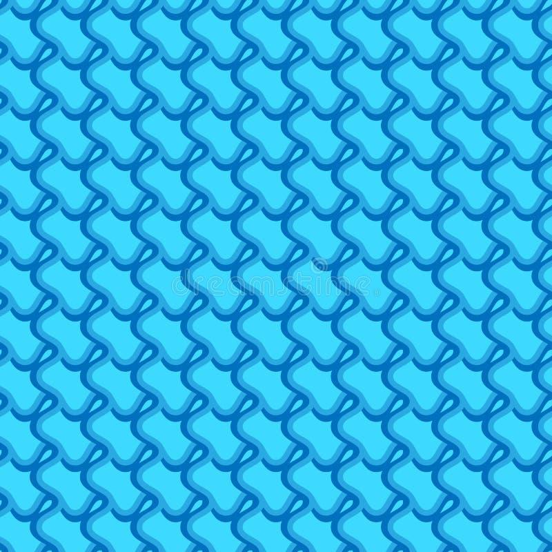 Modèle avec les lignes de intersection onduleuses et houleuses Grille d'irregular illustration stock