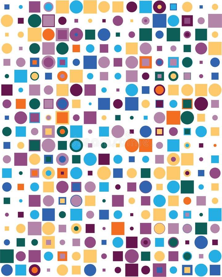 Modèle avec les places et les points colorés illustration libre de droits