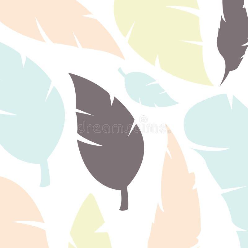Modèle avec les plumes multicolores Approprié au papier de empaquetage, textures décoratives, illustration libre de droits
