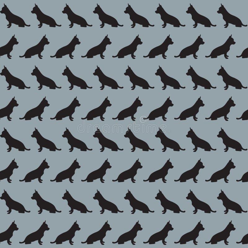 Modèle avec les silhouettes du chien image stock