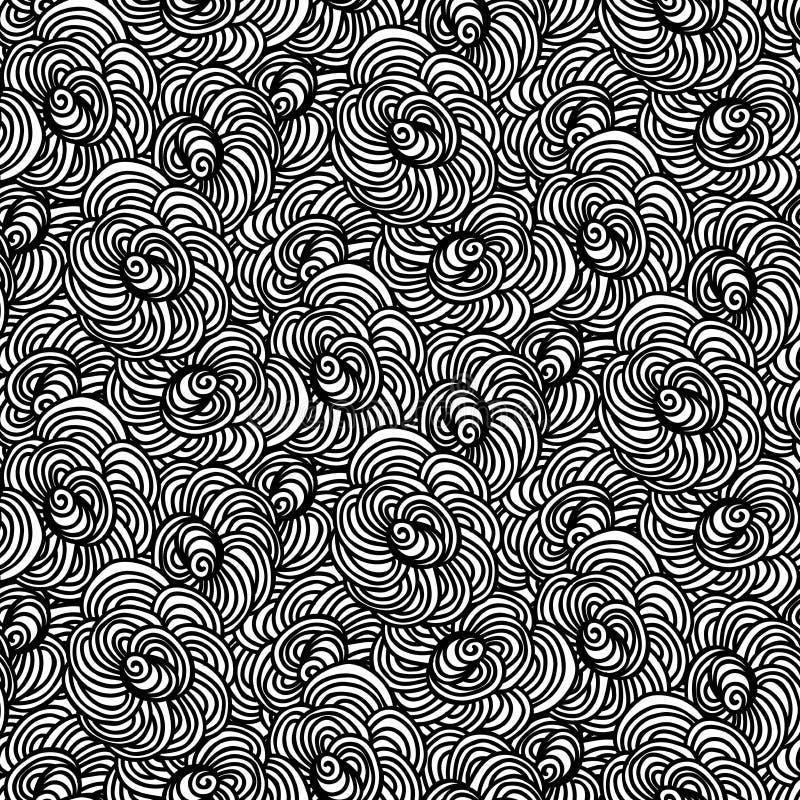 Modèle avec recouvrir des formes circulaires illustration stock