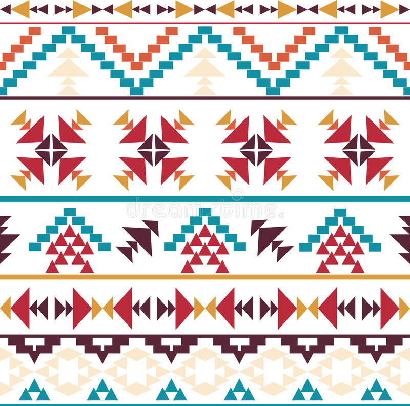 Modèle aztèque coloré sans couture illustration stock