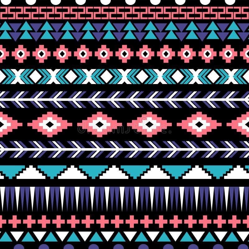 Modèle aztèque sans couture illustration stock