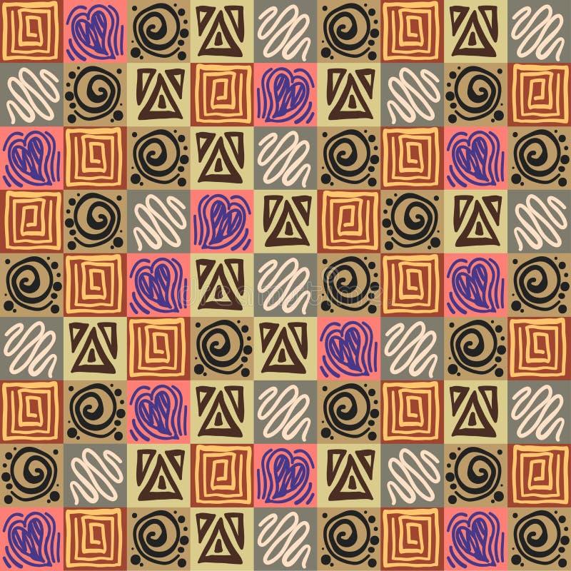 Download Modèle Aztèque Sans Couture Illustration de Vecteur - Illustration du textile, wallpaper: 76082051