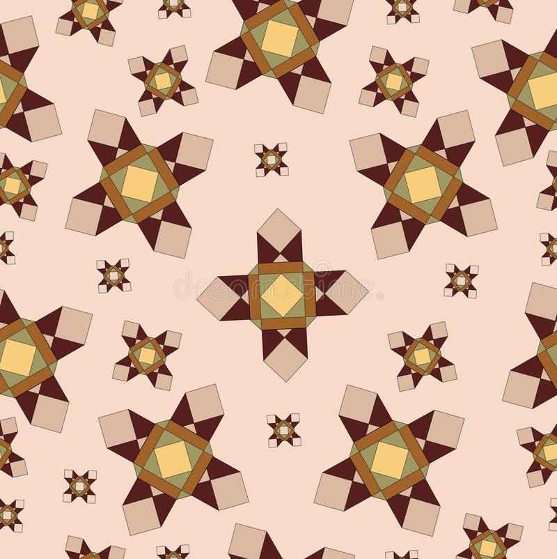 Modèle beige géométrique illustration de vecteur