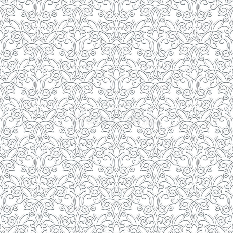 Modèle blanc de dentelle illustration stock
