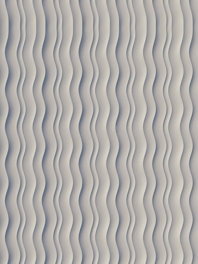 Modèle blanc de surface d'abrégé sur bande de vague rendu 3d illustration stock