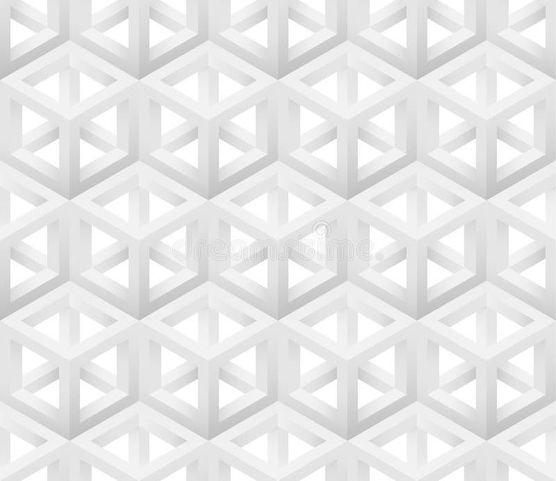 Modèle blanc du cube 3D abstrait illustration de vecteur