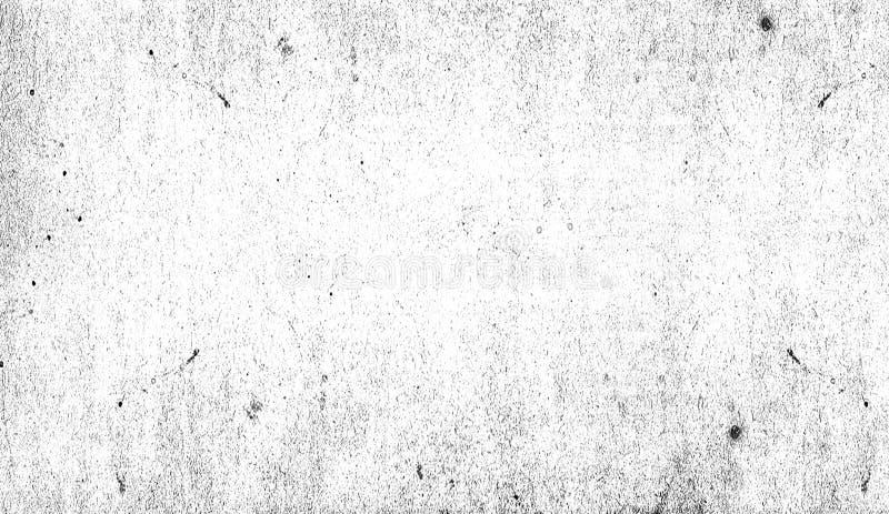 Modèle blanc grunge d'éraflure Les particules monochromes soustraient la texture Recouvrements de impression noirs d'élément photos libres de droits