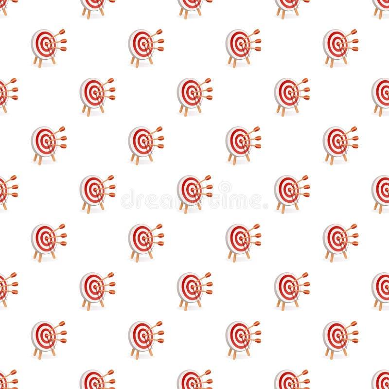 Modèle blanc rouge de cible sans couture illustration de vecteur