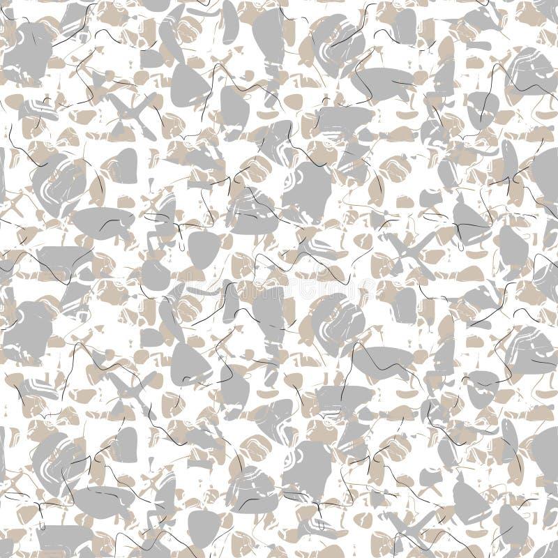 Modèle blanc sans couture marbré de vecteur de roche illustration libre de droits