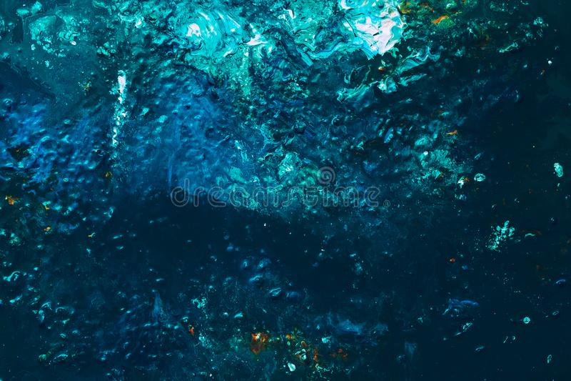Modèle bleu abstrait de profondeur d'océan de fond de peinture photos stock