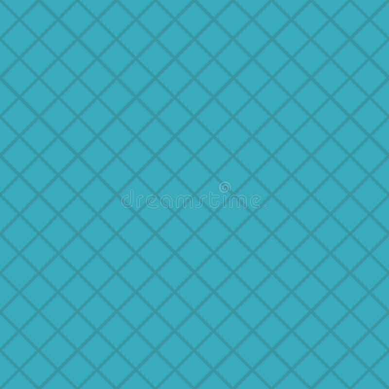 Modèle bleu avec la maille, grille Fond sans joint de vecteur Texture géométrique abstraite Style géométrique de Memphis de motif illustration libre de droits