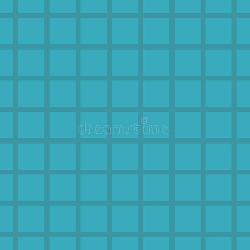 Modèle bleu avec la maille, grille Fond sans joint de vecteur Texture géométrique abstraite Style géométrique de Memphis de motif illustration de vecteur