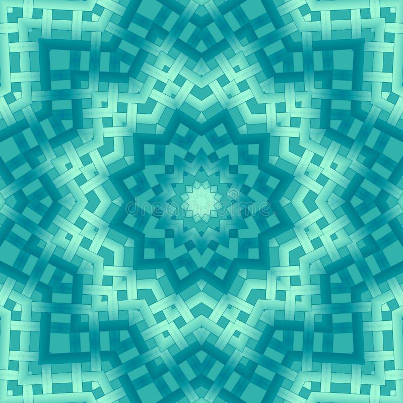 Modèle bleu celtique de mandala rond abstrait sans couture illustration de vecteur