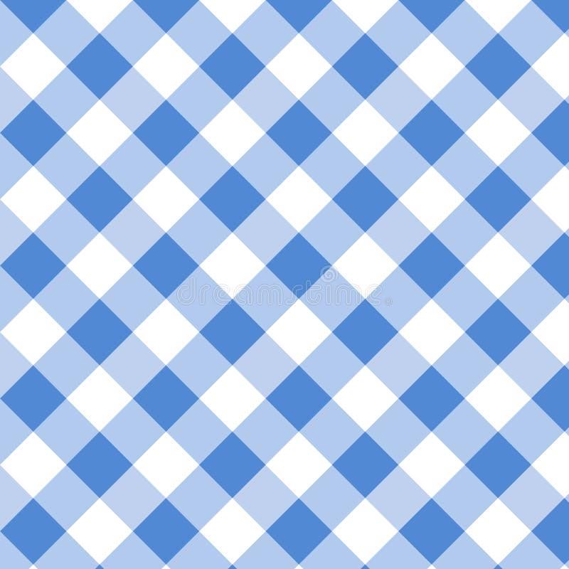 Modèle bleu de guingan Texture de places pour le plaid, nappes, vêtements, chemises, robes, papier, literie, couvertures, édredon illustration libre de droits