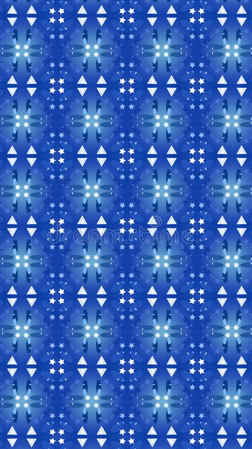 Modèle bleu de lumières conception de festival pour votre écran mobile illustration stock