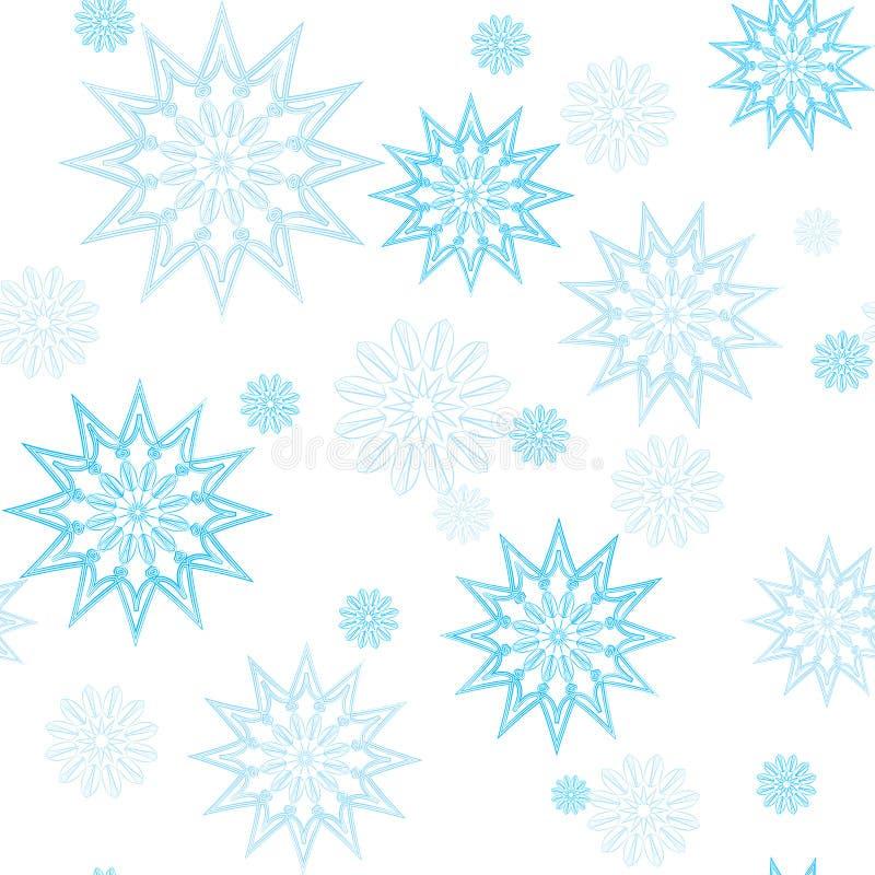Modèle bleu de mandala de flocon de neige photos libres de droits