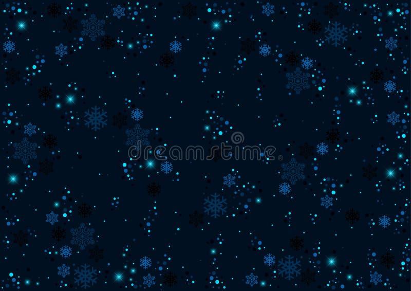 Modèle bleu de Noël avec des flocons de neige illustration libre de droits