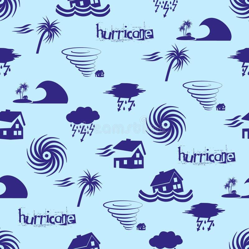 Modèle bleu eps10 d'icônes de problème de catastrophe naturelle d'ouragan illustration stock