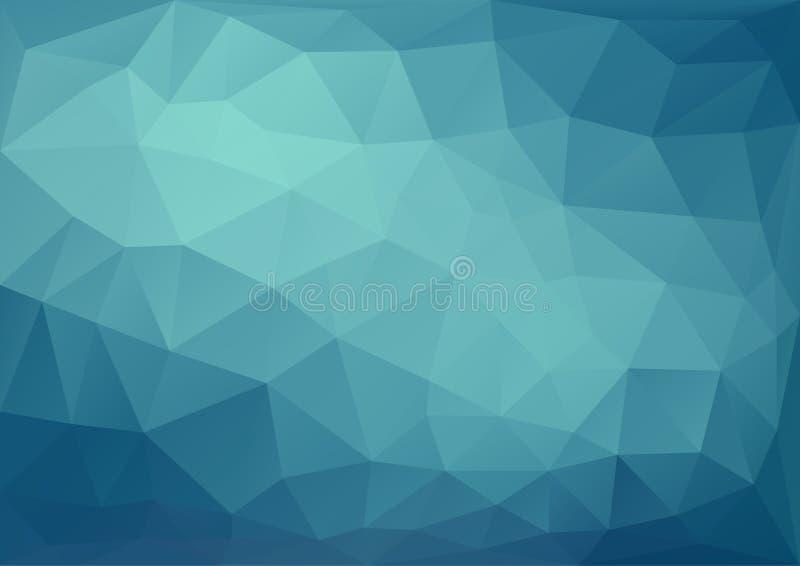 Modèle bleu géométrique illustration stock