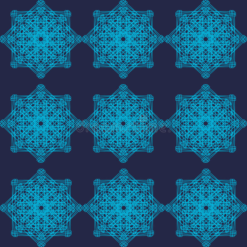 Modèle bleu géométrique abstrait image stock