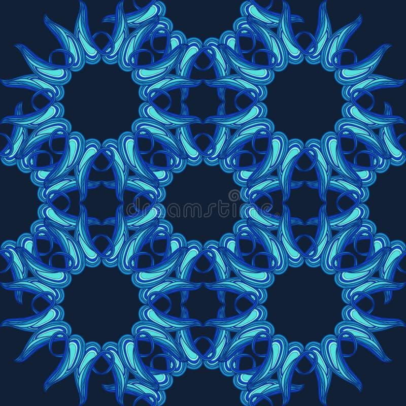 Modèle bleu profond illustration libre de droits