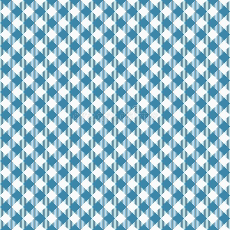 Modèle bleu sans couture de guingan Les nappes donnent une consistance rugueuse, fond de plaid Graphiques de typographie pour la  illustration libre de droits