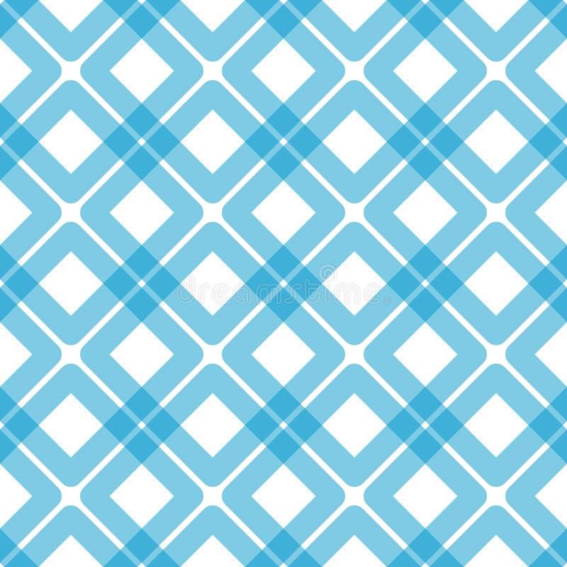 Modèle bleu sans couture de places de plaid illustration libre de droits