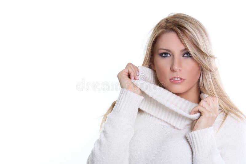 Modèle blond de beauté photographie stock libre de droits