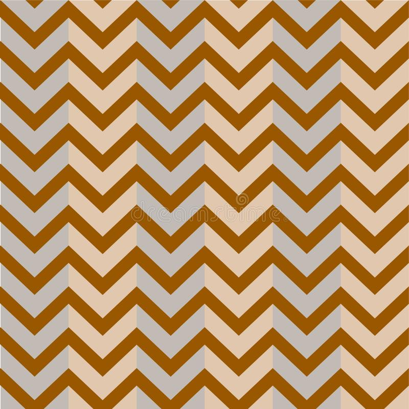 Modèle Brown Grey Background Zigzag illustration libre de droits