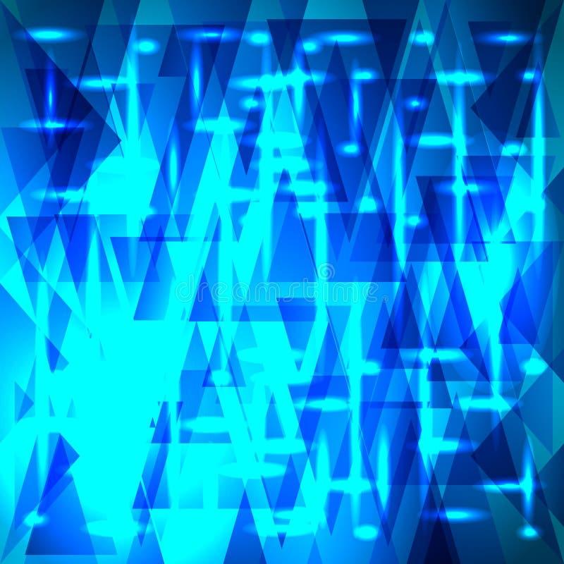 Modèle céleste brillant de vecteur des fragments et des triangles avec s illustration libre de droits