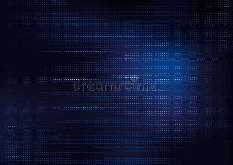 Modèle carré bleu sur le fond foncé illustration libre de droits