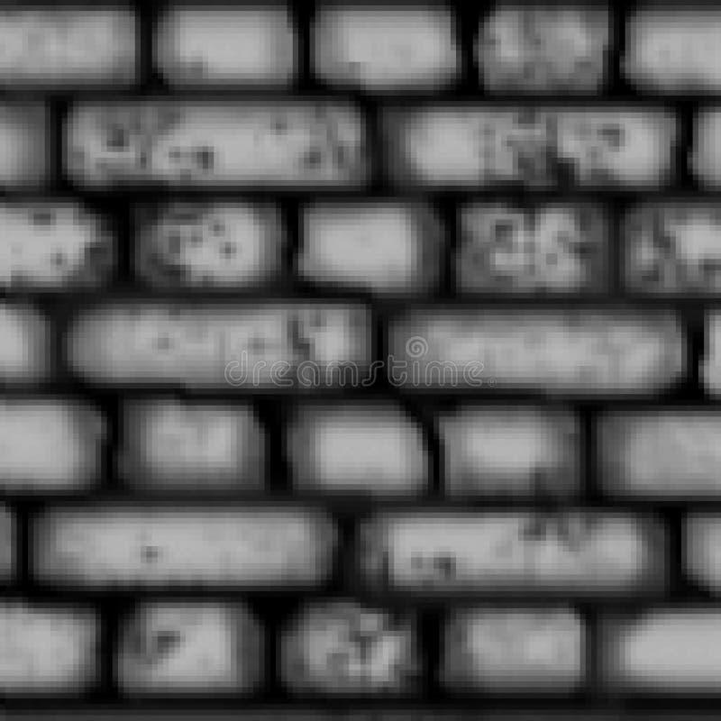 Modèle carré coloré tiré de tuile de brique de bit du pixel 8 illustration libre de droits