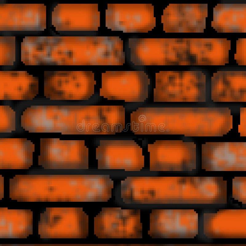 Modèle carré coloré tiré de tuile de brique de bit du pixel 8 illustration stock