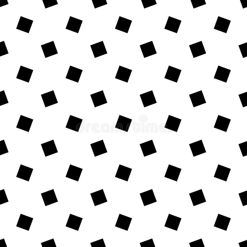Modèle carré géométrique sans couture abstrait monochrome - dirigez la conception de fond illustration de vecteur