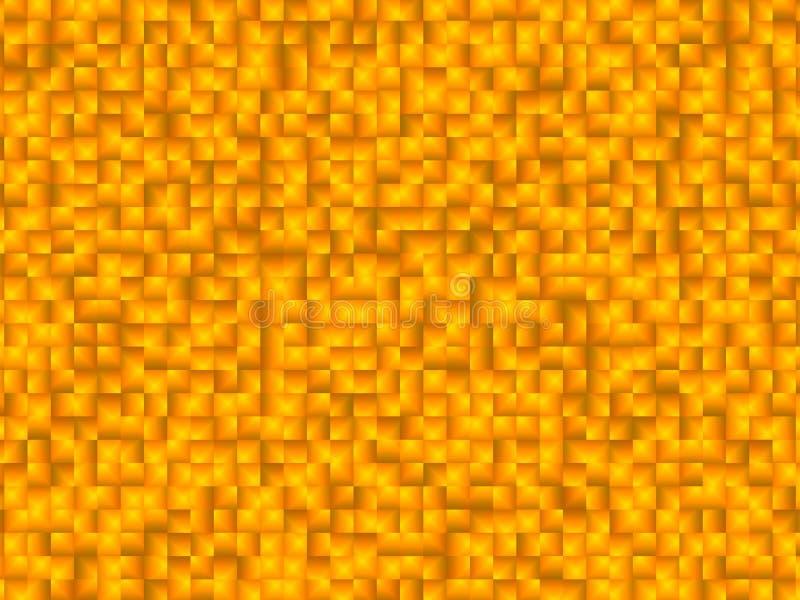 Modèle carré orange de fond avec des tons gradués image libre de droits