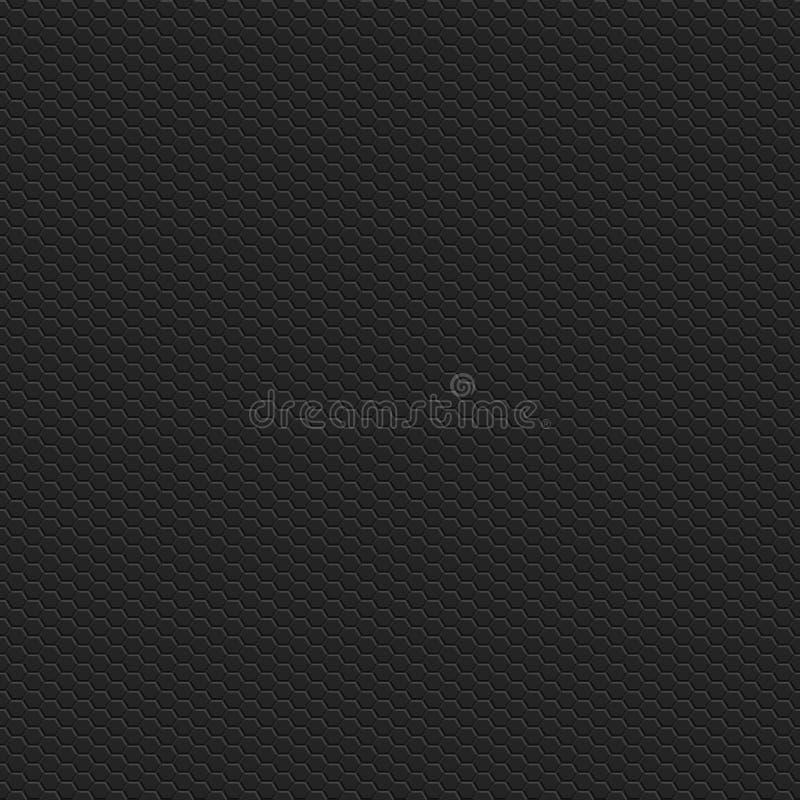 Modèle carré sans couture de texture hexagonale de grille de technologie illustration de vecteur