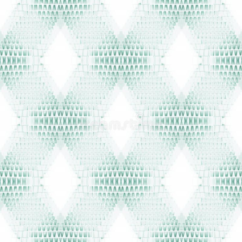 Modèle carré sans couture géométrique abstrait illustration de vecteur