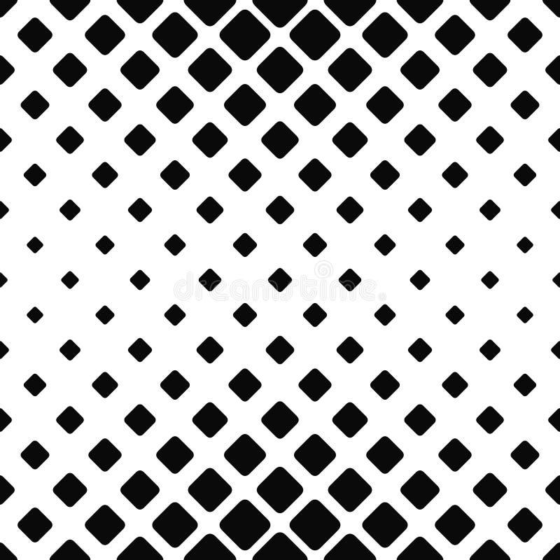 Modèle carré sans couture monochromatique illustration stock