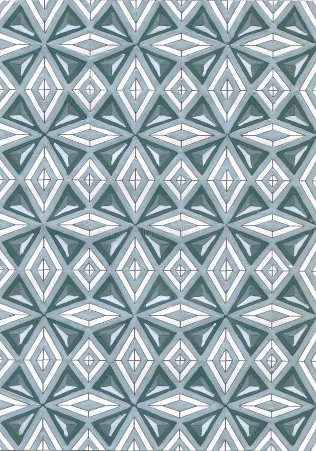 Modèle carré tiré par la main texture élégante moderne Répétition du fond géométrique abstrait avec des losanges illustration libre de droits