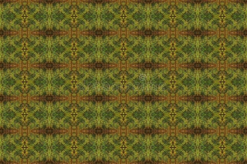 Modèle carrelé d'un plan rapproché d'une feuille d'automne illustration de vecteur