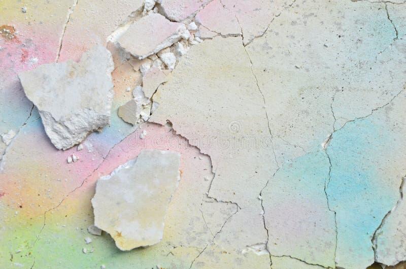 Modèle cassé de panneau de gypse avec des couleurs douces photographie stock