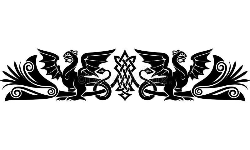 Modèle celtique médiéval illustration libre de droits