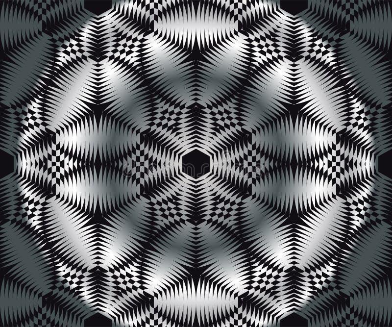 Modèle circulaire géométrique de vecteur Ornement géométrique complexe strict Graphique de mode Conception de fond illustration libre de droits
