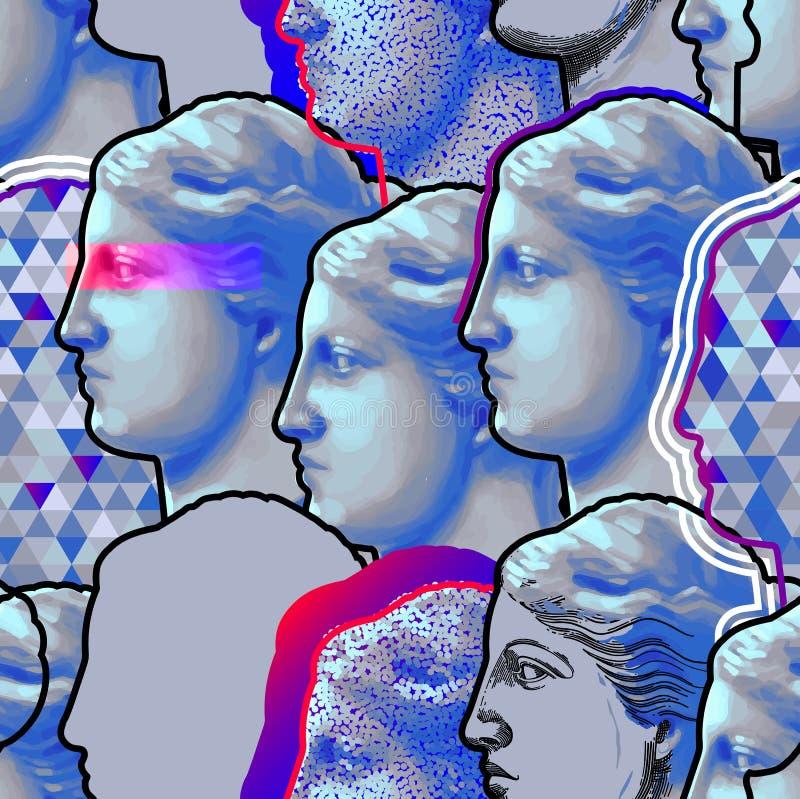 Modèle classique de statue de Venus de Milo illustration libre de droits