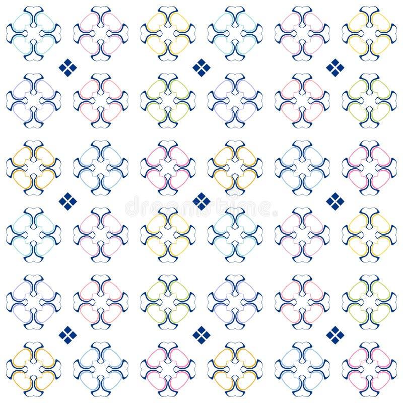 Modèle coloré abstrait dans le style ornemental Fond tileable sans joint illustration libre de droits