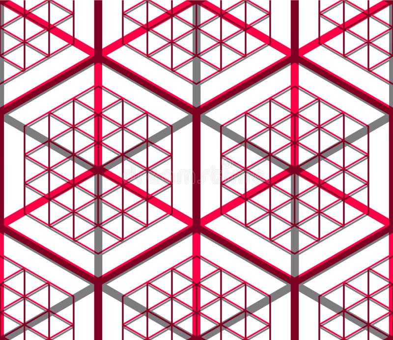 Modèle coloré continu trompeur, backgr abstrait décoratif illustration de vecteur